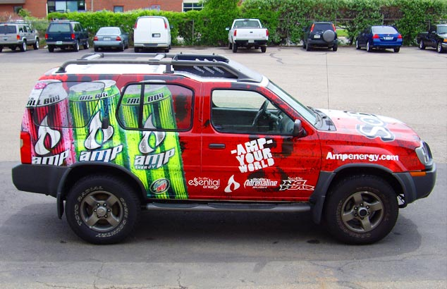 Amp Energy Vehicle Wrap