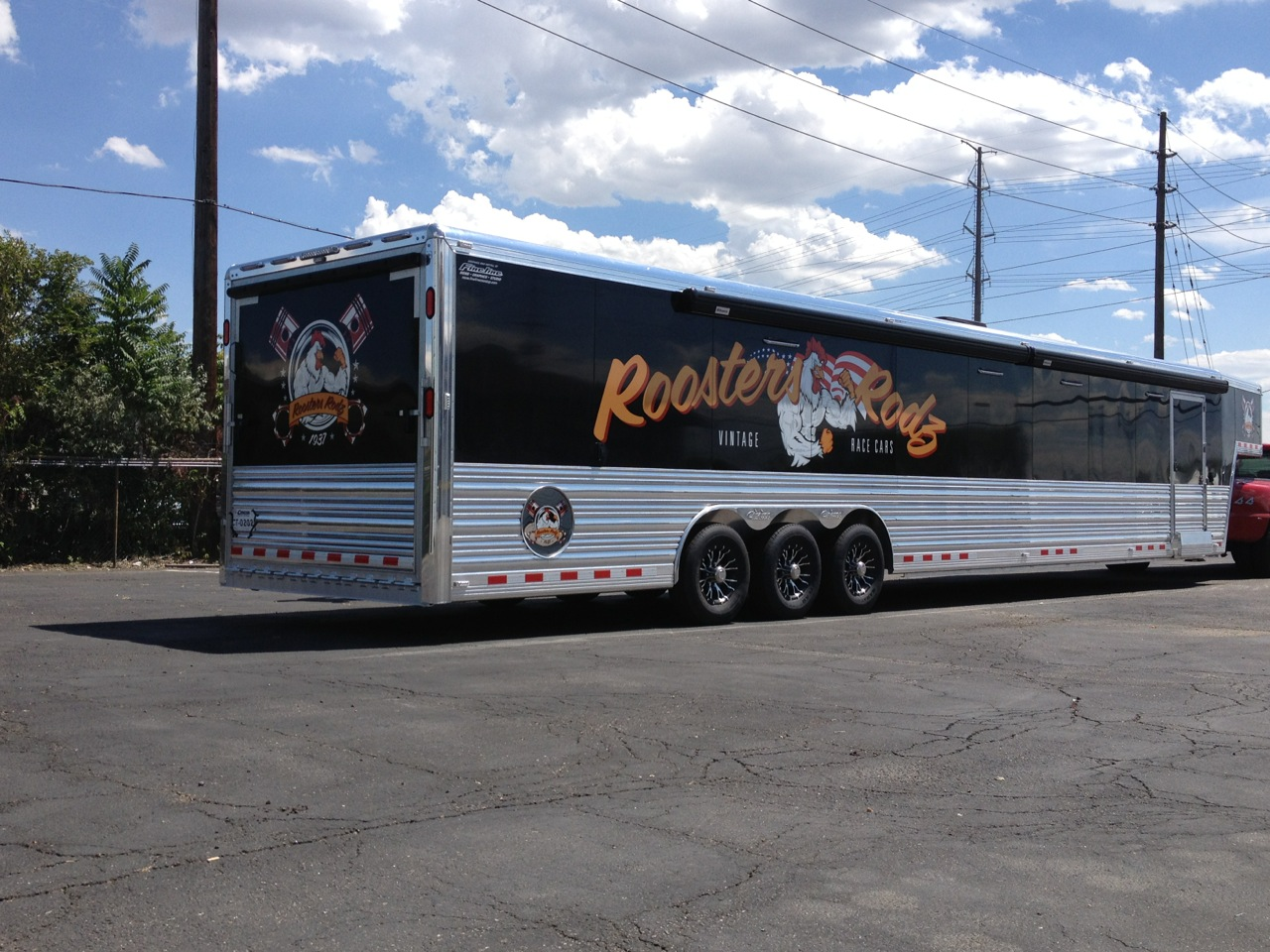 Roosters Rodz Trailer Graphics