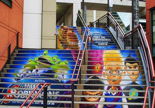 Denver Pavilions Promotional Stair Wrap