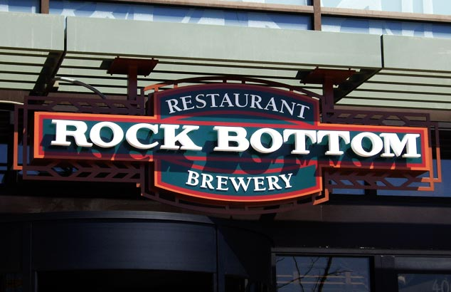 Rock Bottom Brewery Sign